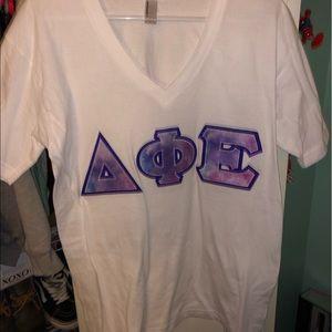 delta phi epsilon sorority letters t shirt
